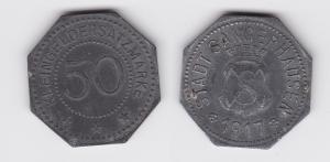 50 Pfennig Notgeld Zink Münze Stadt Sangerhausen 1917 (122897)