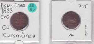 2 Pfennig Kupfer Münze Braunschweig-Wolfenbüttel 1829 CvC (121834)