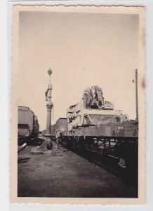 89361 Orig. Foto Bahntransport von Panzern 2.Weltkrieg