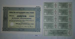 100 RM Aktie Meißner Ofen- und Porzellanfabrik (vorm.C.Teichert) 1934 (130835)