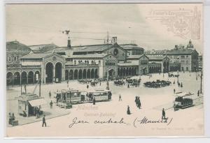 71852 Reklame AK Dr. Fischers Essigessenz - München Central-Bahnhof um 1900