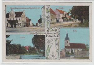 71797 Mehrbild Ak Gruss aus Falkenhain Materialwarenhandlung usw. 1917
