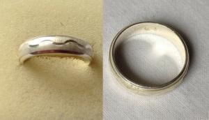 Moderner Damen Ring 925er Silber mit Wellenmuster (119677)