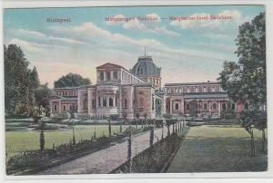 68588 Ak Budapest Margareten Insel Badehaus 1913