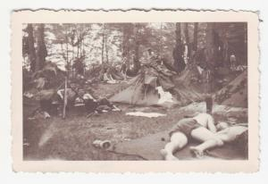 67521 Foto Deutsche Soldaten kampieren im Wald im 2.Weltkrieg