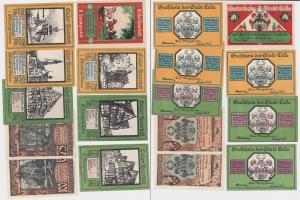9 Banknoten Notgeld Stadt Celle Celler Quartett o.D. (1922) (121203)