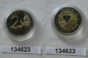 2 Euro Bi-Metall Münze Finnland Menschenrechte 2008 Polierte Platte (134623)
