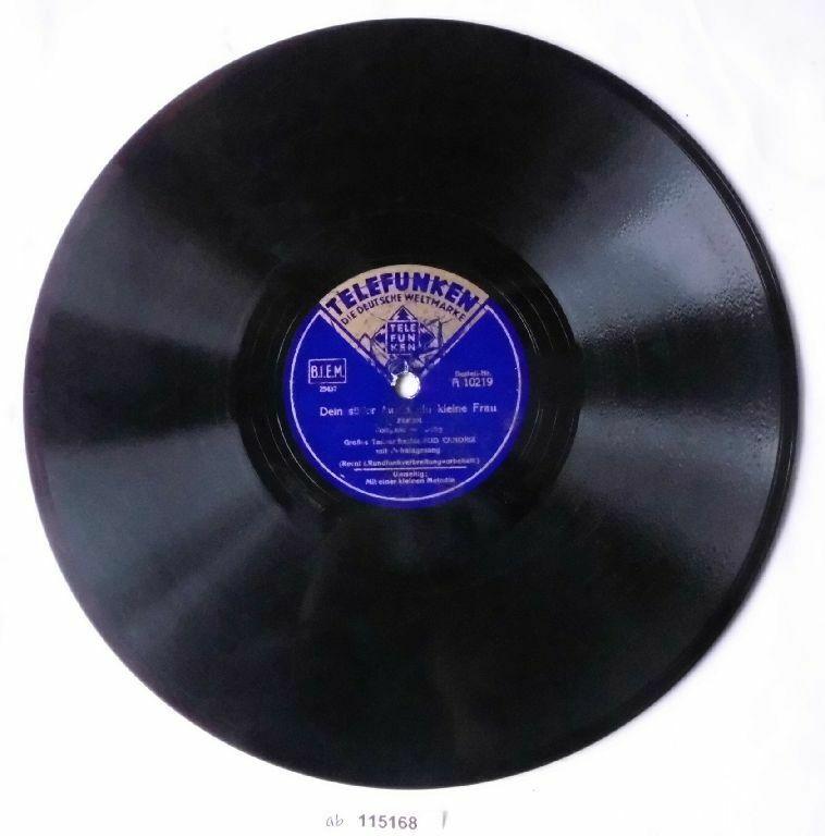 115168 Schellackplatte Telefunken