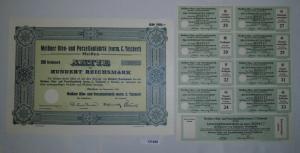 100 RM Aktie Meißner Ofen- und Porzellanfabrik (vorm.C.Teichert) 1934 (131498)