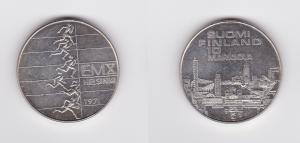 10 Markkaa Silbermünze Finnland Leichtathletik EM 1971 (124388)