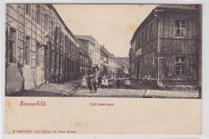 88737 Ak Sommerfeld Schlossstrasse mit Kindern um 1900