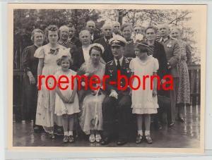 75545 Original Foto Feldwebel Luftwaffe bei Hochzeit im 2.Weltkrieg
