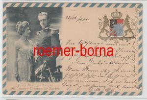 73428 Ak Prinz Albert von Belgien und Herzogin Elisabeth von Bayern 1900