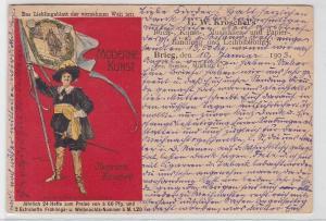 61519 Reklame Ak Moderne Kunst illustrierte Zeitschrift 1903