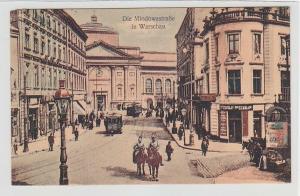 70246 Feldpost Ak Die Miodowastrasse in Warschau 1917
