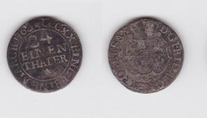 1/24 Taler Silber Münze Sachsen 1763 FWoF (123270)