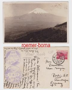 82766 Foto Ak Fujijama von Japan nach Berlin 5.8.1918