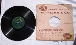 113490 Schellackplatte Grammophon