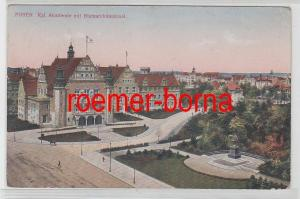 78521 Feldpost Ak Posen königliche Akademie mit Bismarckdenkmal 1915