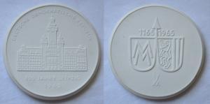 DDR Porzellan Medaille 800 Jahre Leipzig 1165-1965 (118987)