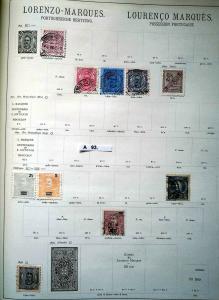 Schöne hochwertige Briefmarkensammlung Lorenzo Marques portugiesische Besitzung