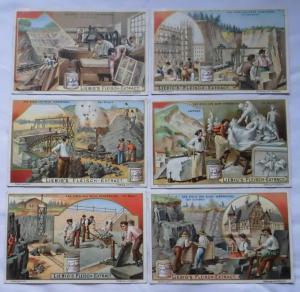 Liebigbilder Serie Nr. 575 Der Stein und seine Verwendung 1903 (L120573)