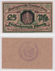 25 Pfennig Banknote Notgeld Stadtgemeinde Allendorf Werra o.D. (1921) (122074)