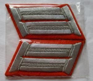 Seltenes Paar Kragenspiegel für Offiziere Feldgendarmerie 2. Weltkrieg (123647)