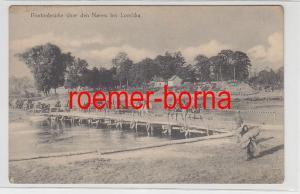 80204 Ak Pontonbrücke über den Narew bei Lomscha Lomza um 1915