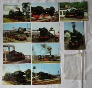 Ansichtskartenserie mit 10 Karten Dampflokomotiven im Ostseebezirk (94590)