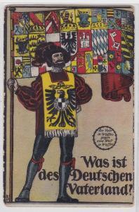 90682 Propaganda AK Was ist des Deutschen Vaterland? Feldpostkarte 1. WK 1917