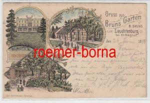 74218 Ak Lithografie Gruss aus Bruns Garten Leuchtenburg bei St. Magnus 1898