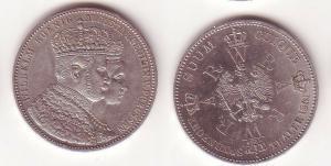 Schöne Silber Münze 1 Krönungstaler Preussen 1861 vz (104993)