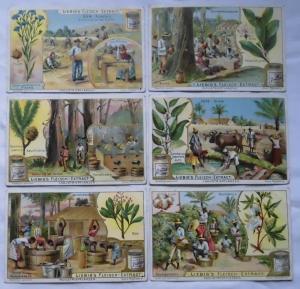 Liebigbilder Serie Nr. 535, Industriepflanzen, komplett Jahrgang 1902 (L122667)