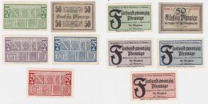 5 Banknoten Notgeld Stadt Waldenburg Wałbrzych 1920 (120405)
