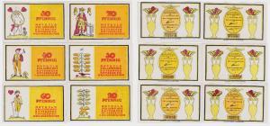 6 Banknoten Notgeld Gemeinde Osterhorn o.D. (1921) (120282)