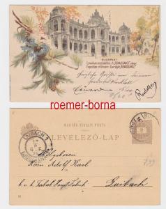 82696 Ganzsachen Postkarte Budapest Exposition Millénaire