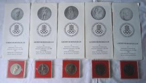5 x DDR Medaillen Gesellschaft zur Förderung des Olympischen Gedankens (100077)