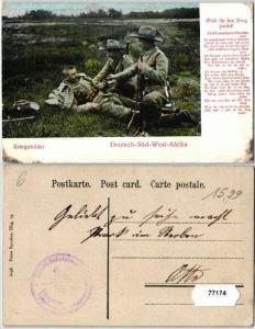 77174 Feldpost Ak Deutsch Süd West Afrika Kriegsbilder um 1907
