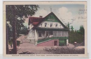 90724 AK Weberbaude am Preussenweg, Bes. V.Weber, Ausflugsort von Trautenau 1933