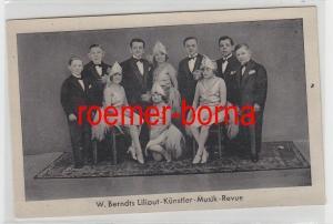 77938 Foto Ak W. Berndts Liliput-Künstler-Musik-Revue um 1930