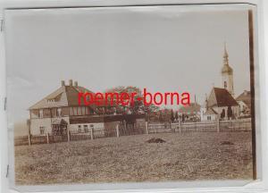 76935 Original Foto Röderau Dorfansicht um 1930