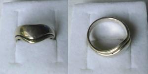 Moderner geschwungener Damenring 925er Silber (117325)