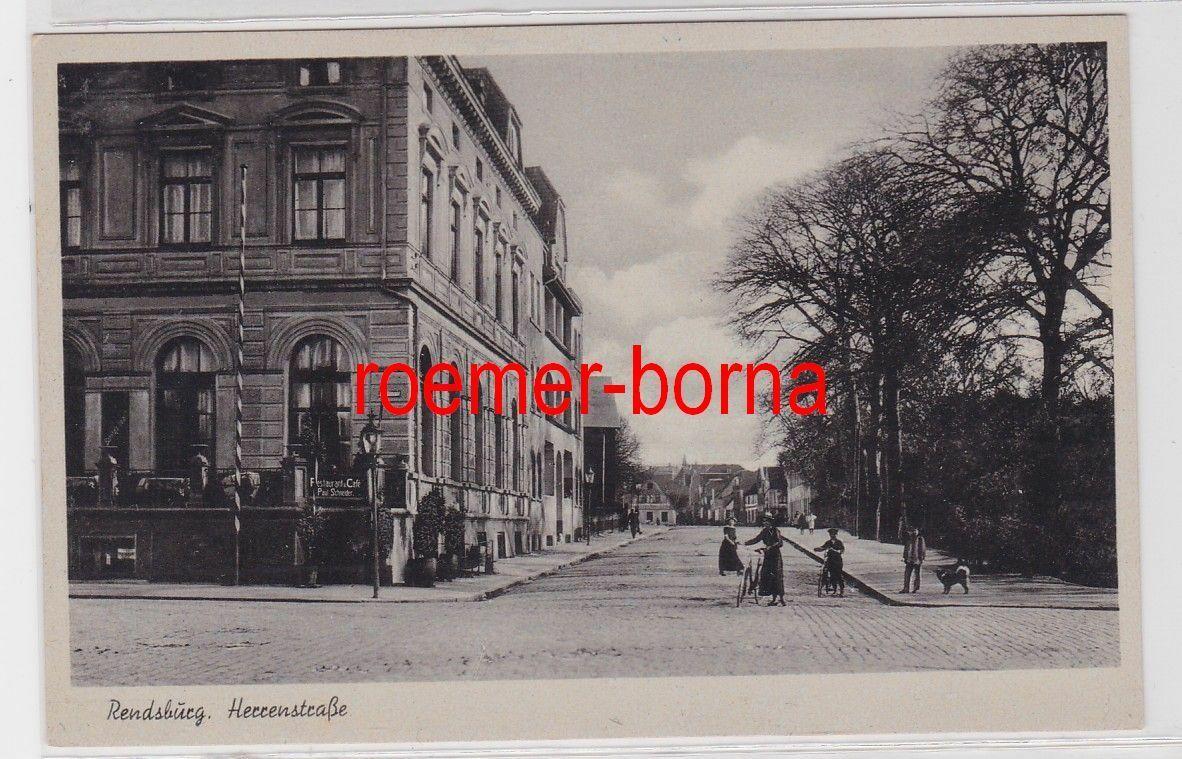 85373 Ak Rendsburg Herrenstrasse um 1940 0
