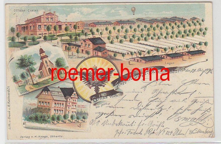 53634 Ak Lithografie Gruss vom Truppenübingsplatz Döberitz 1898 0