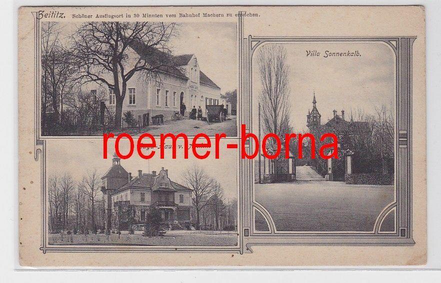 81901 Mehrbild Ak Zeititz Gasthof, Jagd-Haus v. Arnim, Villa Sonnenkalb 1911 0