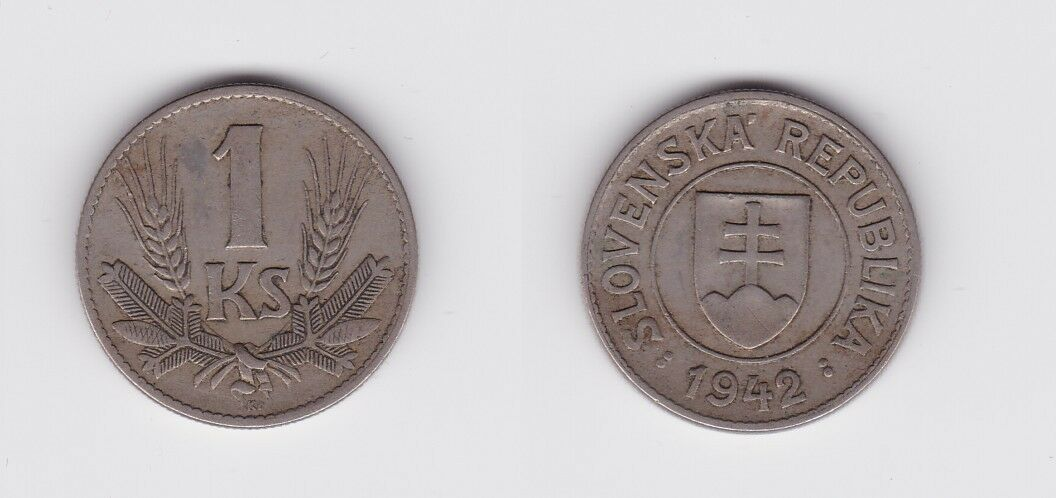 1 Krone Nickel Münze Slowakei 1942 (119906) 0