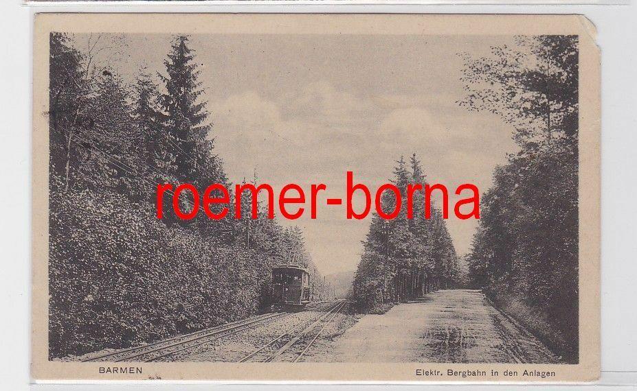 81494 Ak Barmen Elekt. Bergbahn in den Anlagen 1918 0