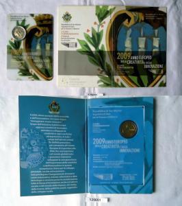 San Marino 2 Euro 2009 st Blister EU Jahr der Kreativität und Innovation(125651)
