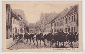 75514 Ak Strelitz i.M. Wesenbergerstrasse (Morgen Idyll) um 1930